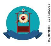 asian gong instrument | Shutterstock .eps vector #1184252098