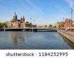 amsterdam netherlands 05 05... | Shutterstock . vector #1184252995