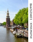 amsterdam netherlands 05 05... | Shutterstock . vector #1184252998