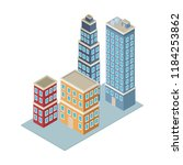 company buildings isometric | Shutterstock .eps vector #1184253862