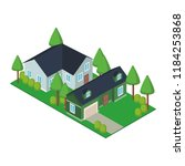 house residences isometric   Shutterstock .eps vector #1184253868