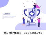 success concept banner. can use ... | Shutterstock .eps vector #1184256058
