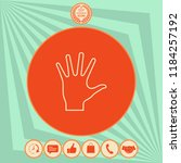 helping hand   line icon | Shutterstock .eps vector #1184257192