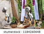 religious altar of umbanda ... | Shutterstock . vector #1184260648