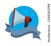 bullhorn advertising symbol | Shutterstock .eps vector #1184261098