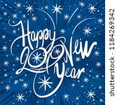 inscription   happy new year...   Shutterstock .eps vector #1184269342