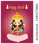 vector of hindu goddess laksame ... | Shutterstock .eps vector #1184275882