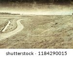 agriculture on land reclaimed... | Shutterstock . vector #1184290015