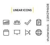 commerce icons set with globe ...