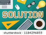 solution vector concept design | Shutterstock .eps vector #1184296855