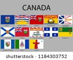 all flags provinces of canada.... | Shutterstock .eps vector #1184303752