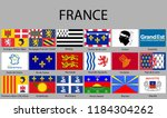 all flags regions of france.... | Shutterstock .eps vector #1184304262
