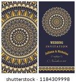 wedding invitation cards... | Shutterstock .eps vector #1184309998