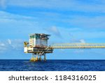 offshore oil and gas rig...   Shutterstock . vector #1184316025