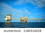 offshore oil and gas rig...   Shutterstock . vector #1184316028