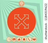 extend  resize  enlarge line... | Shutterstock .eps vector #1184319622