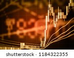 candlestick chart in financial... | Shutterstock . vector #1184322355