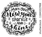 may your new year sparkle and... | Shutterstock .eps vector #1184322988