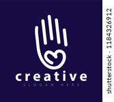 hand love line logo icon | Shutterstock .eps vector #1184326912