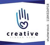 hand love line logo icon | Shutterstock .eps vector #1184326918