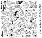 musical instruments   doodles... | Shutterstock .eps vector #118434682