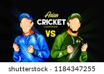 illustration of asian cricket... | Shutterstock .eps vector #1184347255
