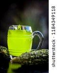 organic bitter gourd  or bitter ... | Shutterstock . vector #1184349118
