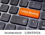 keyboard enter key with message, for online or internet banking concepts. - stock photo