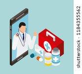 people digital health | Shutterstock .eps vector #1184355562