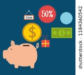 buy on line set icons | Shutterstock .eps vector #1184360542