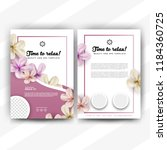 beauty and spa flyer with... | Shutterstock .eps vector #1184360725