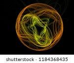 abstract yellow orange figure... | Shutterstock . vector #1184368435