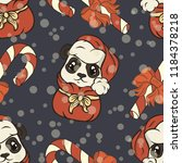 seamless pattern with panda... | Shutterstock .eps vector #1184378218