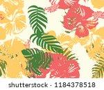 tropical background. green ... | Shutterstock .eps vector #1184378518