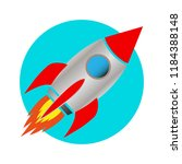 space rocket icon | Shutterstock .eps vector #1184388148
