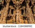 sanctuary of truth in pattaya ... | Shutterstock . vector #1184388982