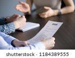 resume information for job... | Shutterstock . vector #1184389555