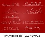 christmas menu with a red... | Shutterstock . vector #118439926