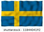 the flag of sweden. official... | Shutterstock . vector #1184404192