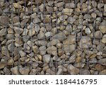 stone wall of a gabion as a... | Shutterstock . vector #1184416795