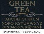 vintage font handcrafted vector ... | Shutterstock .eps vector #1184425642