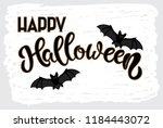 happy halloween hand sketched...   Shutterstock .eps vector #1184443072
