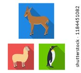 different animals flat icons in ... | Shutterstock . vector #1184451082