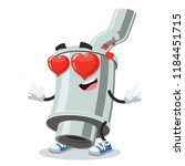 in love cartoon car exhaust... | Shutterstock .eps vector #1184451715