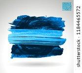 blue brush stroke and texture.... | Shutterstock .eps vector #1184465572