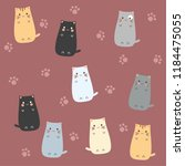 cute cat cartoons | Shutterstock .eps vector #1184475055