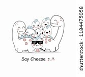 cute dino cartoons | Shutterstock .eps vector #1184475058