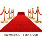 red event carpet isolated on a... | Shutterstock . vector #118447708
