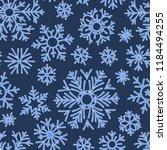 christmas seamless doodle... | Shutterstock .eps vector #1184494255