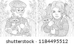 coloring pages. coloring book... | Shutterstock .eps vector #1184495512